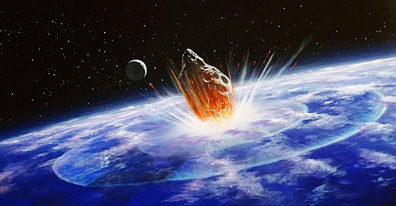 Collision d'une comète avec la Terre