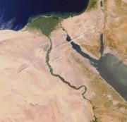 Le delta du Nil en Égypte