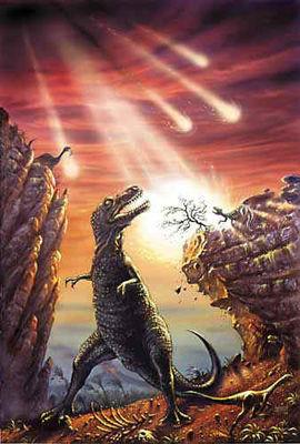 Dinosaure et comète