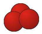 Molécule d'ozone