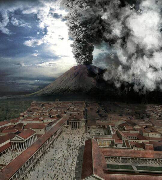 Éruption du Vésuve sur Pompéi
